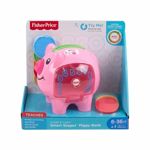 Fisher-Price Laugh & Learn Smart Stages Piggy Bank Perspective: front