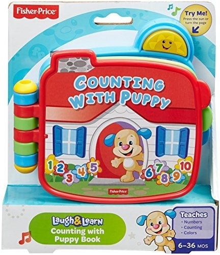 Fisher-Price Electronic Laugh & Learn Counting with Puppy Book Perspective: front