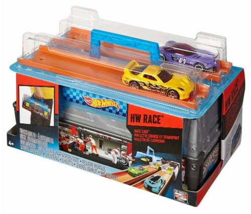 Mattel Hot Wheels® Race Case Track Set Perspective: front
