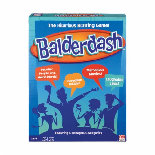 Mattel Balderdash Board Game Perspective: front