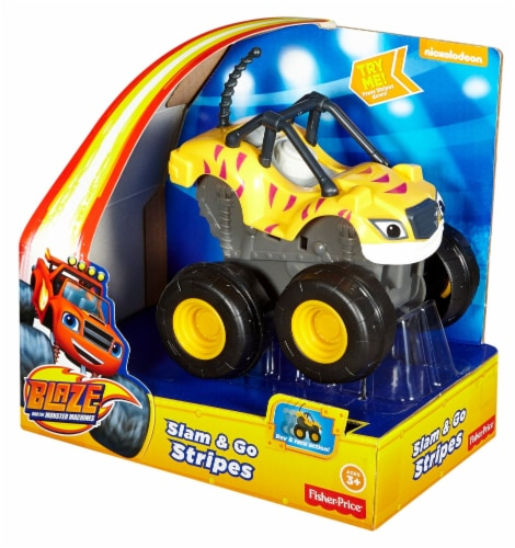 Fisher-Price® Blaze and the Monster Machines Slam & Go Stripes Vehicle Perspective: front