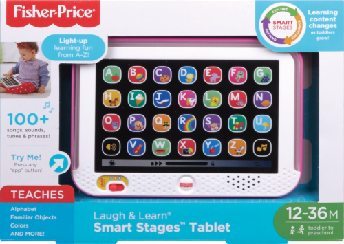 Fisher-Price® Laugh & Learn Smart Stages Toy Tablet - Pink Perspective: front