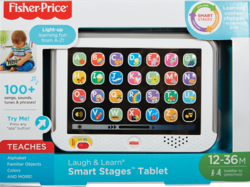 Fisher-Price® Laugh & Learn Smart Stages Toy Tablet - Gray Perspective: front