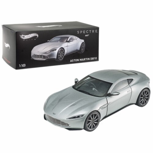 Hot Wheels CMC94 Elite Edition Aston Martin DB10 James Bond 007 1 by 18 Scale Diecast Model C Perspective: front