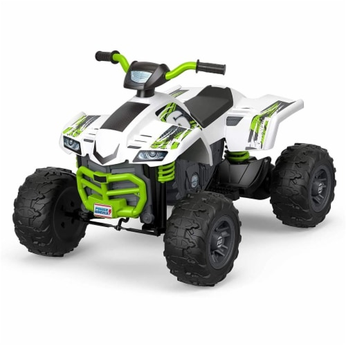 Fisher Price Power Wheels Battery Powered Electric Kids Car ATV Ride Toy, Green Perspective: front