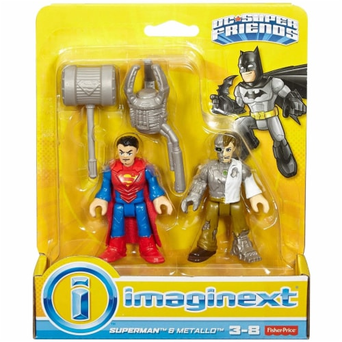 Fisher-Price Imaginext DC Super Friends Action Figures - Superman & Metallo Perspective: front