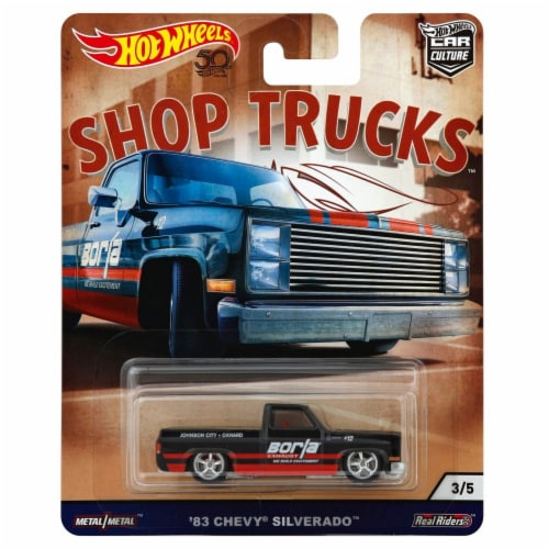 Mattel Hot Wheels® '83 Chevy Silverado Toy Car Perspective: front