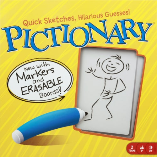 Mattel Pictionary Board Game Perspective: front
