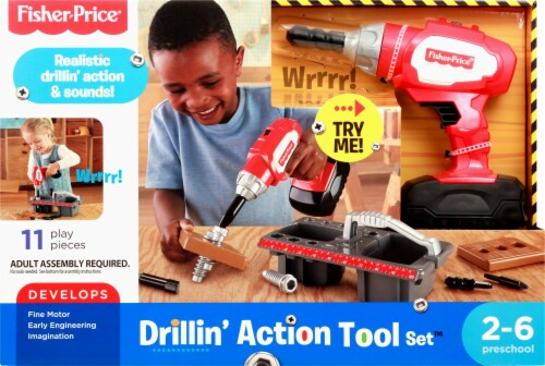 Fisher-Price® Drillin' Action Tool Set Perspective: front