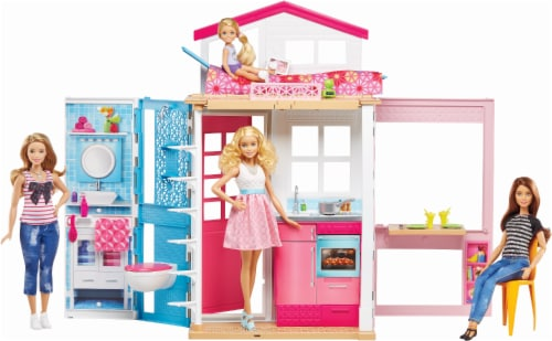 Mattel Barbie 2-Story House Perspective: front
