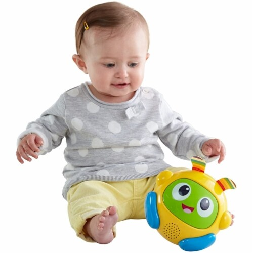 Fisher-Price Bright Beats Spin & Crawl Tumble Ball BeatBo Perspective: front