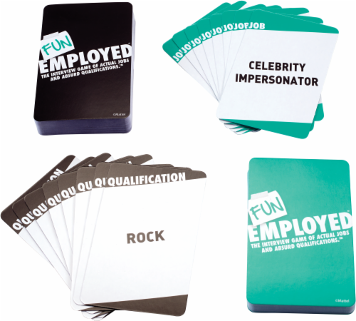 Mattel Fun Employed™ Card Game Perspective: front