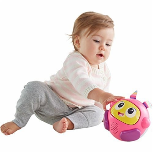 Fisher-Price Bright Beats Spin & Crawl Tumble Beat Belle Ball Perspective: front