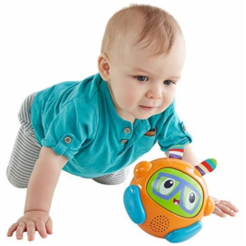 Fisher-Price Bright Spin & Crawl Tumble Franky Beats Ball Perspective: front