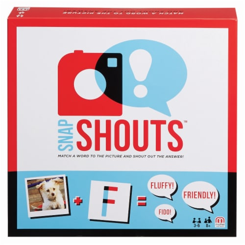 Mattel Snapshouts Family and Party Game Perspective: front