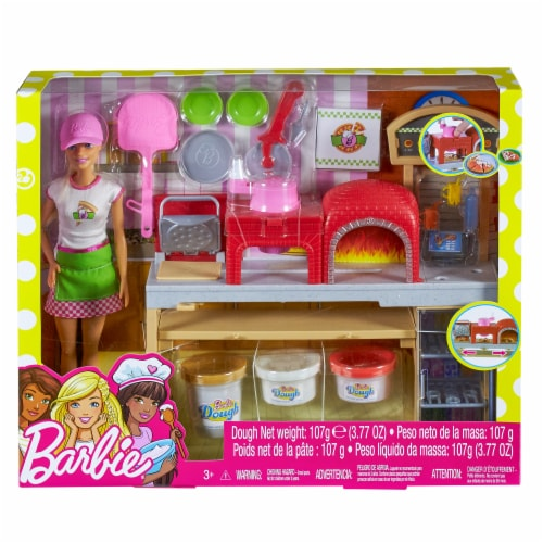 Mattel Barbie® Pizza Chef Doll and Playset Perspective: front