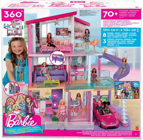 Mattel Barbie® Dreamhouse™ Dollhouse Perspective: front