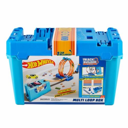Mattel Hot Wheels® Track Builder Multi Loop Box Set Perspective: front