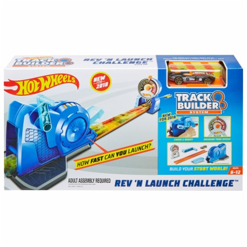 Mattel Hot Wheels® Track Builder Rev 'n Launch Challenge Perspective: front
