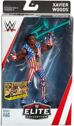Mattel WWE Xavier Woods Elite Collection Action Figure Perspective: front
