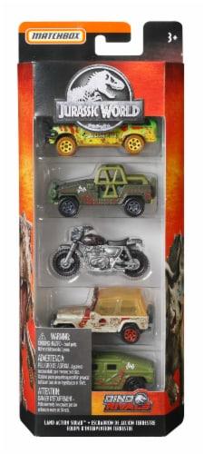 Mattel Matchbox® Jurassic World Land Action Squad Toy Car Set Perspective: front