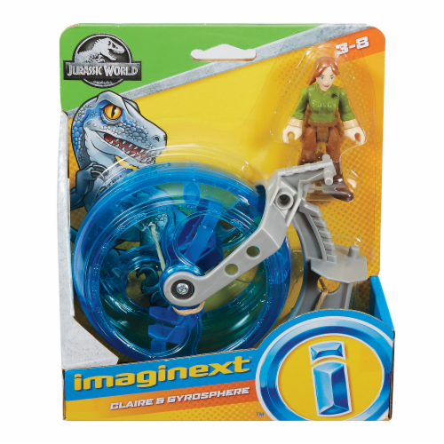 Fisher-Price® Imaginext Jurassic World Claire & Gyrosphere Action Figure Set Perspective: front