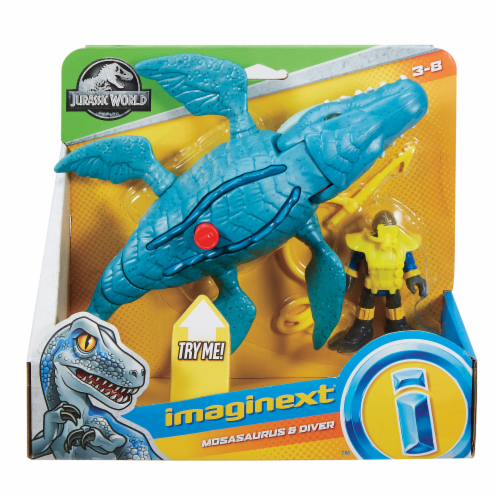Fisher-Price® Imaginext Jurassic World Mosasaurus & Diver Action Figure Set Perspective: front