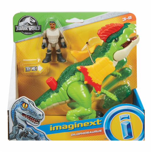 Fisher-Price® Imaginext Jurassic World Dilophosaurus & Action Figure Set Perspective: front
