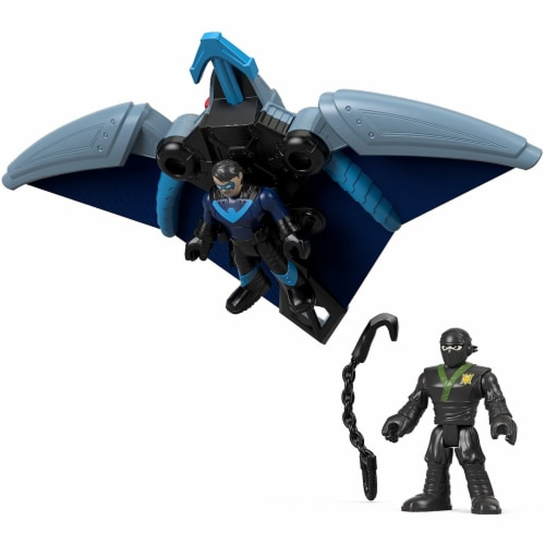 Fisher-Price Imaginext DC Super Friends, Ninja Nightwing & Glider Perspective: front