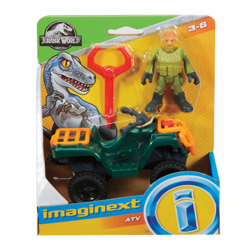 Fisher-Price® Imaginext Jurassic World ATV Technician Action Figure Set Perspective: front