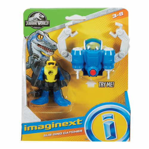 Fisher-Price® Imaginext® Jurassic World™ Sub Dino Catcher Action Figure Set Perspective: front