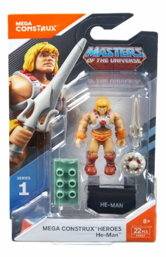 Mega Construx™ Heroes Masters of the Universe He-Man Action Figure Perspective: front