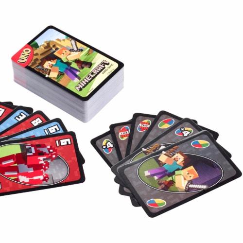 Mattel Uno Minecraft Card Game Perspective: front