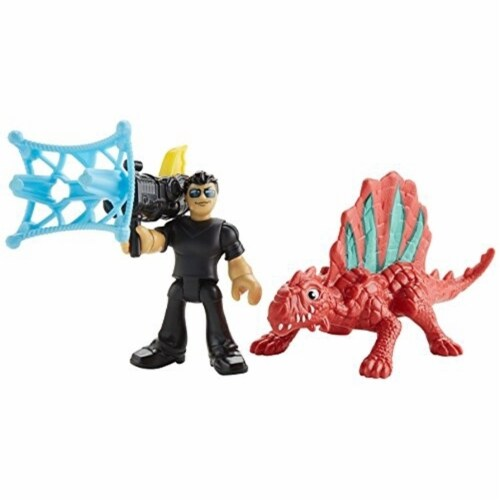 Fisher-Price Imaginext Jurassic World, Dr. Malcolm & Dimetrodon Perspective: front