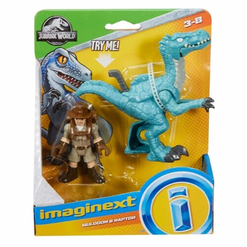 Fisher-Price Imaginext Jurassic World, Muldoon & Raptor Perspective: front