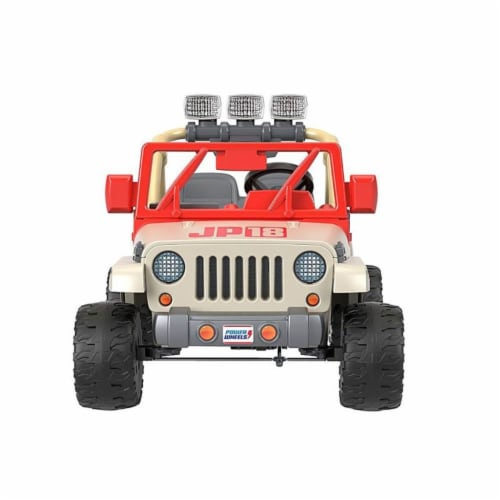 Fisher-Price® Power Wheels Kids Electric 12 Volt Jurassic Park Jeep Perspective: front