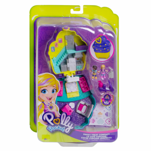 Mattel Polly Pocket Pocket World Sweet Treat Compact Playset Perspective: front
