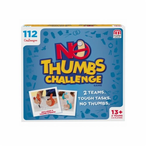 Mattel MTTFVJ04 The No Thumb Challenge Board Games Perspective: front