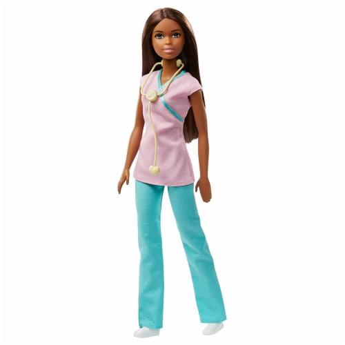 Barbie Nurse Doll, Brunette Perspective: front