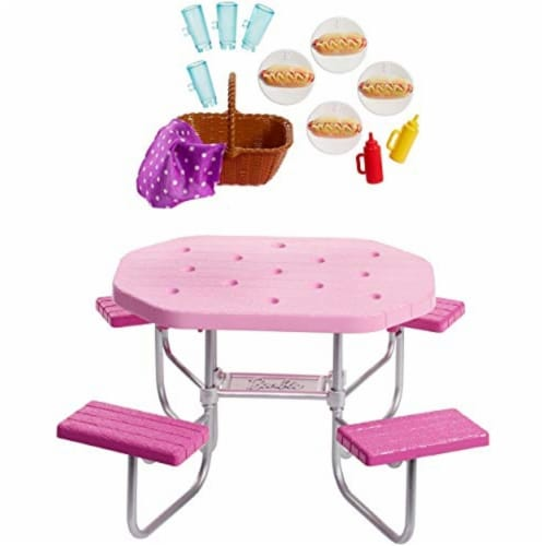 Mattel Barbie® Picnic Table Playset Perspective: front