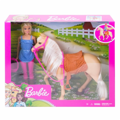 Mattel Barbie® Doll and Horse Set Perspective: front