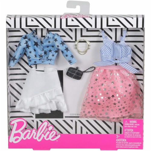 Barbie Fashion Stars and Denim Doll Clothes Perspective: front