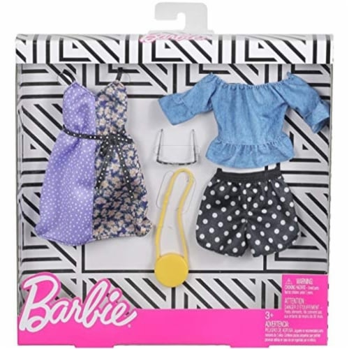 Barbie Fashion Polka Dots Doll Clothes Perspective: front