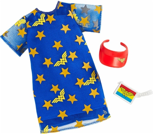Barbie Fashions, Wonder Woman, Blue Stars Perspective: front
