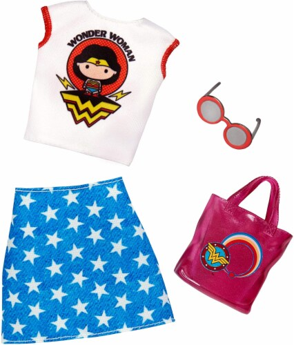 Barbie Fashions - Wonder Woman Blue Skirt Perspective: front