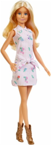 Barbie Fashionistas Doll - White / Pink Perspective: front