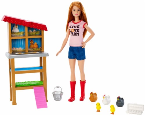 Mattel Barbie® Chicken Farmer Doll Playset Perspective: front