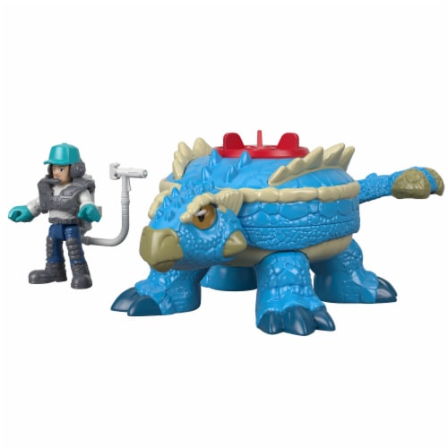 Fisher-Price® Imaginext Jurassic World Ankylosaurus & Action Figure Set Perspective: front