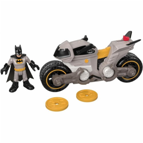 Fisher-Price Imaginext DC Super Friends Batman & Batcycle Perspective: front