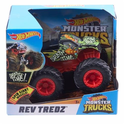 Hot Wheels Monster Trucks - Rev Tredz Splatter Time Perspective: front